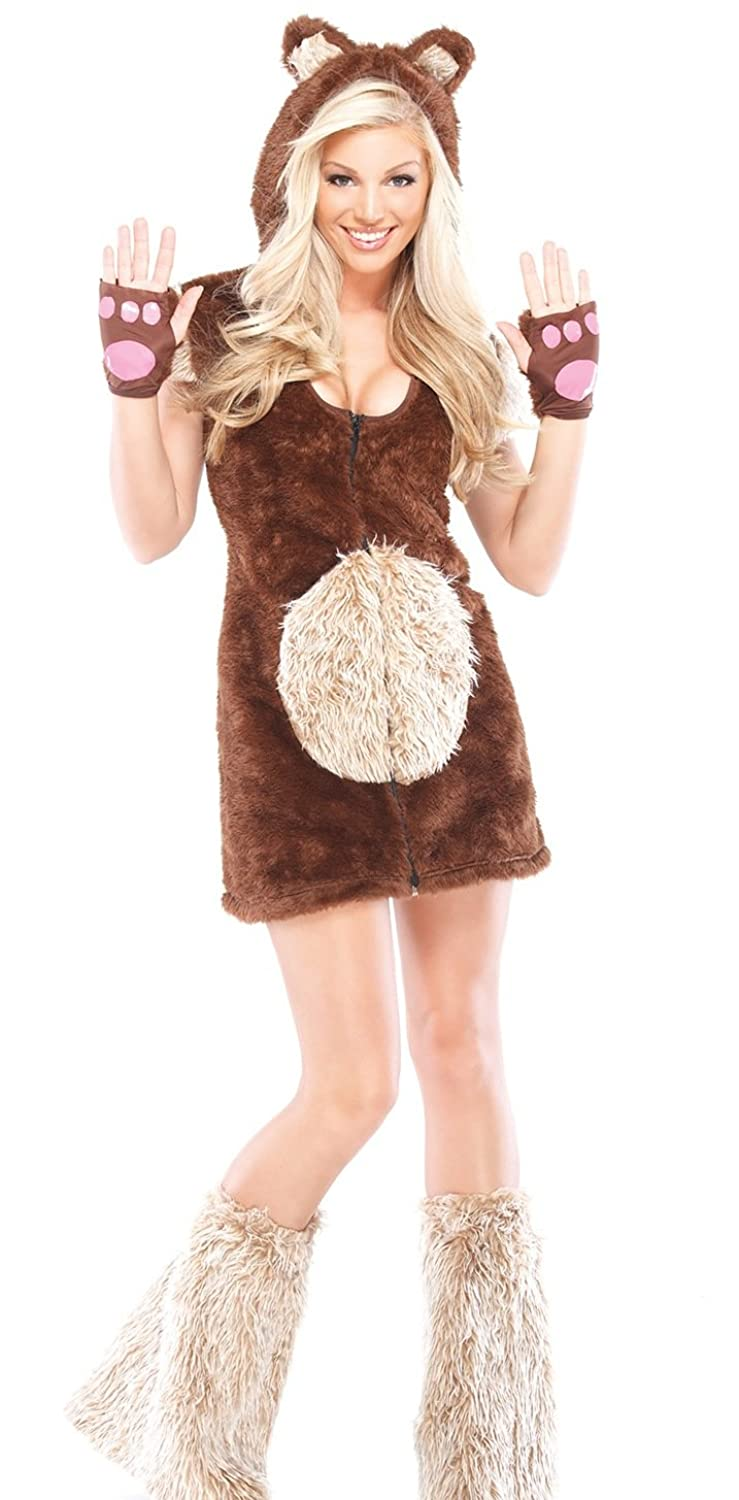 Amazon.com Coquette Womenu0027s Teddy Bear Girl Adult Costume Small/Medium Brown Clothing  sc 1 st  Amazon.com & Amazon.com: Coquette Womenu0027s Teddy Bear Girl Adult Costume Small ...