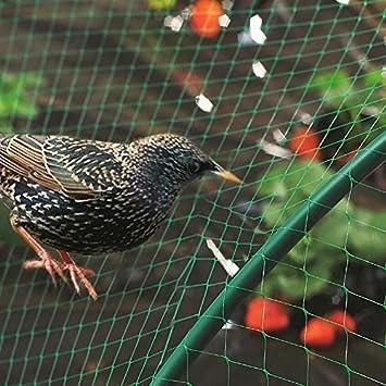 Garden Mile 4m x 10m RED para Pájaros Verde de jardín Anti Pájaro Estanque Redes Para
