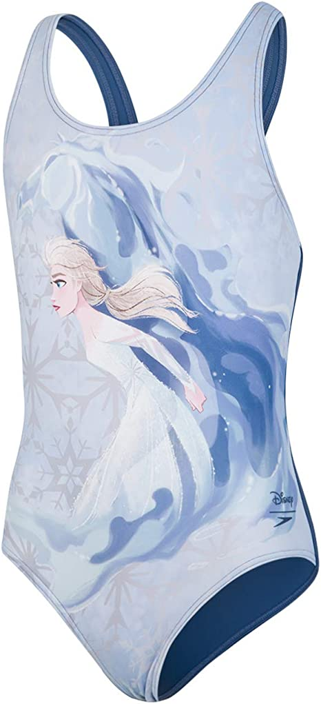 Disney Frozen 2Elsa Digital Placement Costume da Bagno Bambina Speedo