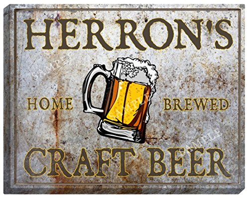herrons-craft-beer-stretched-canvas-sign