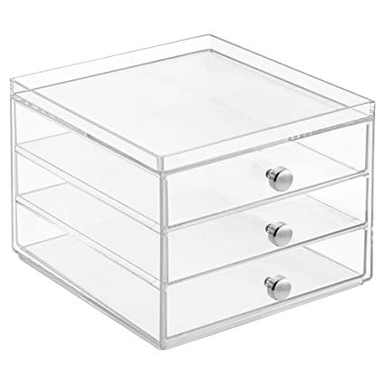 InterDesign Office Desk Organizer U2013 Cabinet With 3 Slim Storage Drawers For  Highlighters, Paper Clips
