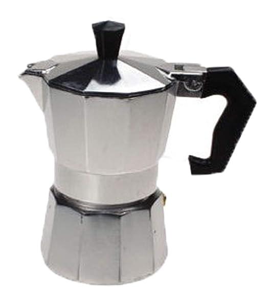 Cafetera exprés de aluminio para tres tazas