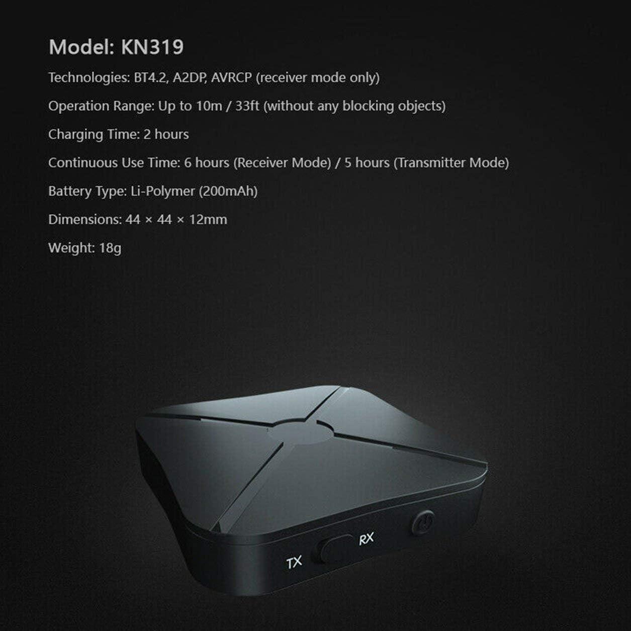 4.2 Adaptateur Audio /Émetteur R/écepteur Deux-en-Un /Émetteur TV R/écepteur Audio De Voiture Transmission Stable