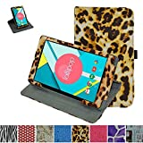 """Mama Mouth 360 Degree Rotating Stand With Cute Lovely Pattern Case for 8"""" Nextbook Ares 8 (NXA8QC116) / Nextbook Flexx 8 Windows 8.1 (NXW8QC132) / Nextbook 8 Windows 8.1 (Old Version NXW8QC16G) Tablet, Leopard Brown"""