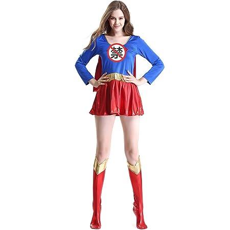 LBFKJ Juego de rol, Traje de Superman Sexy de Ropa de Gran ...