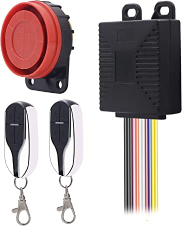 ShinePick Alarma Moto con Mando, Sistema de Alarma Antirrobo