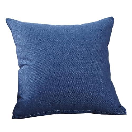 Funda de lino de lino de color liso,Subfamily®Moda simple Fundas de almohada Cafe Sofa Funda de cojín Decoración del hogar