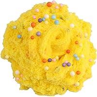 LIOOBO 120ML Fairy Putty Fluffy Cloud Slime, Jumbo Fluffy Floam Slime Stress Relief Toy Juguete perfumado para Lodos para niños y Adultos (Amarillo)