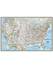 United States Classic Poster Size Map: Wall Maps U.s.