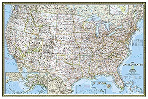 United States Classic, Poster Size, Tubed: Wall Maps U.S. ...