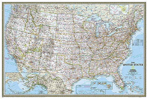 (National Geographic: United States Classic Wall Map - Laminated (36 x 24 inches) (National Geographic Reference)