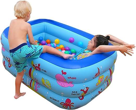 Baño Plegable Piscina Grande para niños Piscina Hinchable hinchada ...