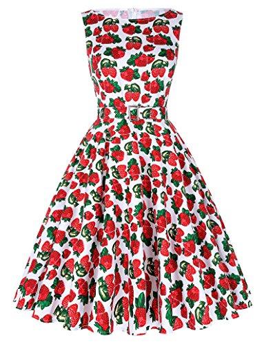 Vestidos Belle bp02 Vintage Años 50 Poque® Swing De Mujeres 10 de Floral nbsp;Fiesta Cócteles rwPqr8