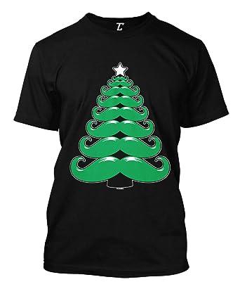 b7136d839 Amazon.com: Mustache Christmas Tree - Xmas Santa Claus Men's T-Shirt ...