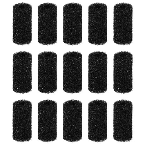 (Bluecell 15 Pieces Pre-Filter Foam Sponge Roll for Aquarium Fish Tank)