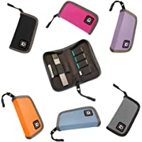 Carrying Case Wallet Holder for JUUL and Other Popular Vapes   Holds Vape, Pods and Charger   Fits in Pockets or Bags (Device Not Included)