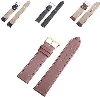 disponible de 10mm à 16mm Bracelet montre en cuir de veau modèle réglable