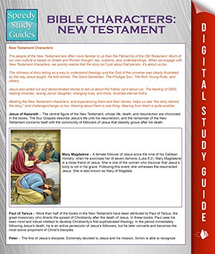 Download Bible Characters: New Testament (Speedy Study