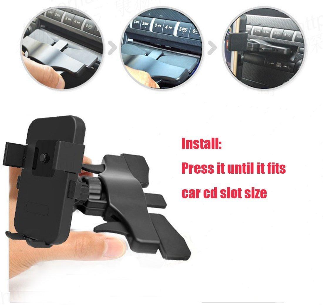 Nexus 6 Smartphones 4326591348 Joysoul One Press Released Mini CD Slot Car Mount Holder Cradle for iPhone 7 7 Plus//6s Plus//6s//6 Samsung Galaxy S8 Edge S7 S6 Note 5