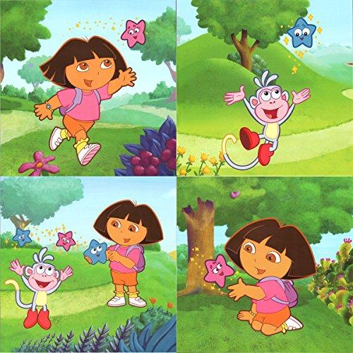 Dora Explorer Star Catcher Peel-n-Stick Wall Art Sticker