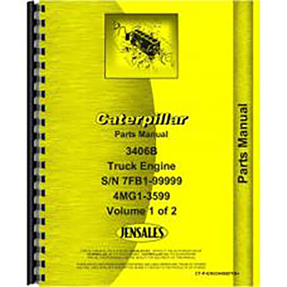 Amazon.com: For Caterpillar 3406B Engine Parts Manual (New) (includes 2  volumes): Industrial & Scientific