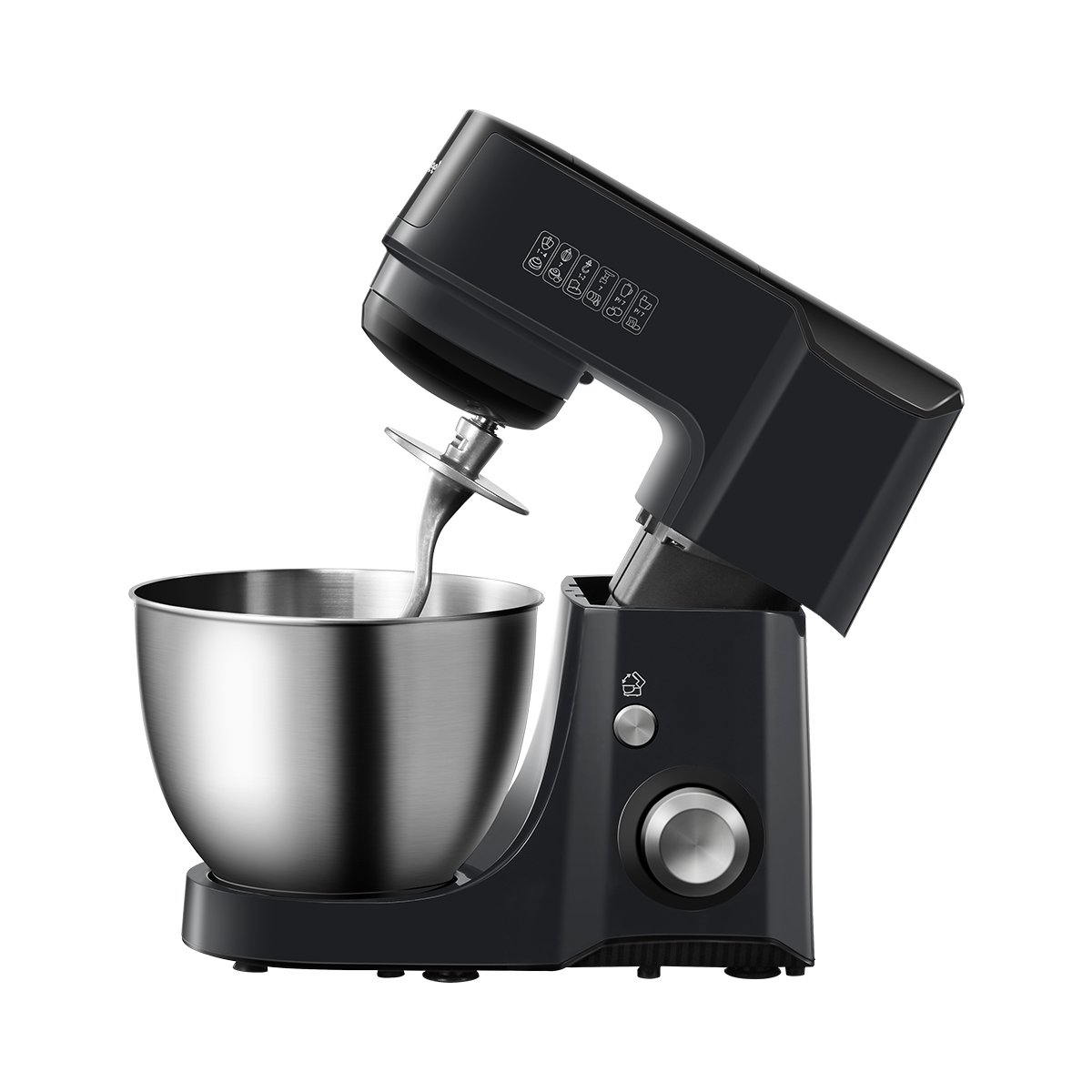 Comfee 4.75Qt 7-in-1 Multi Functions Tilt-Head ABS housing Stand Mixer with SUS Mixing Bowl. 4 Outlets with 7 Speeds & Pulse Control and 15 Minutes Timer Planetary Mixer ¡