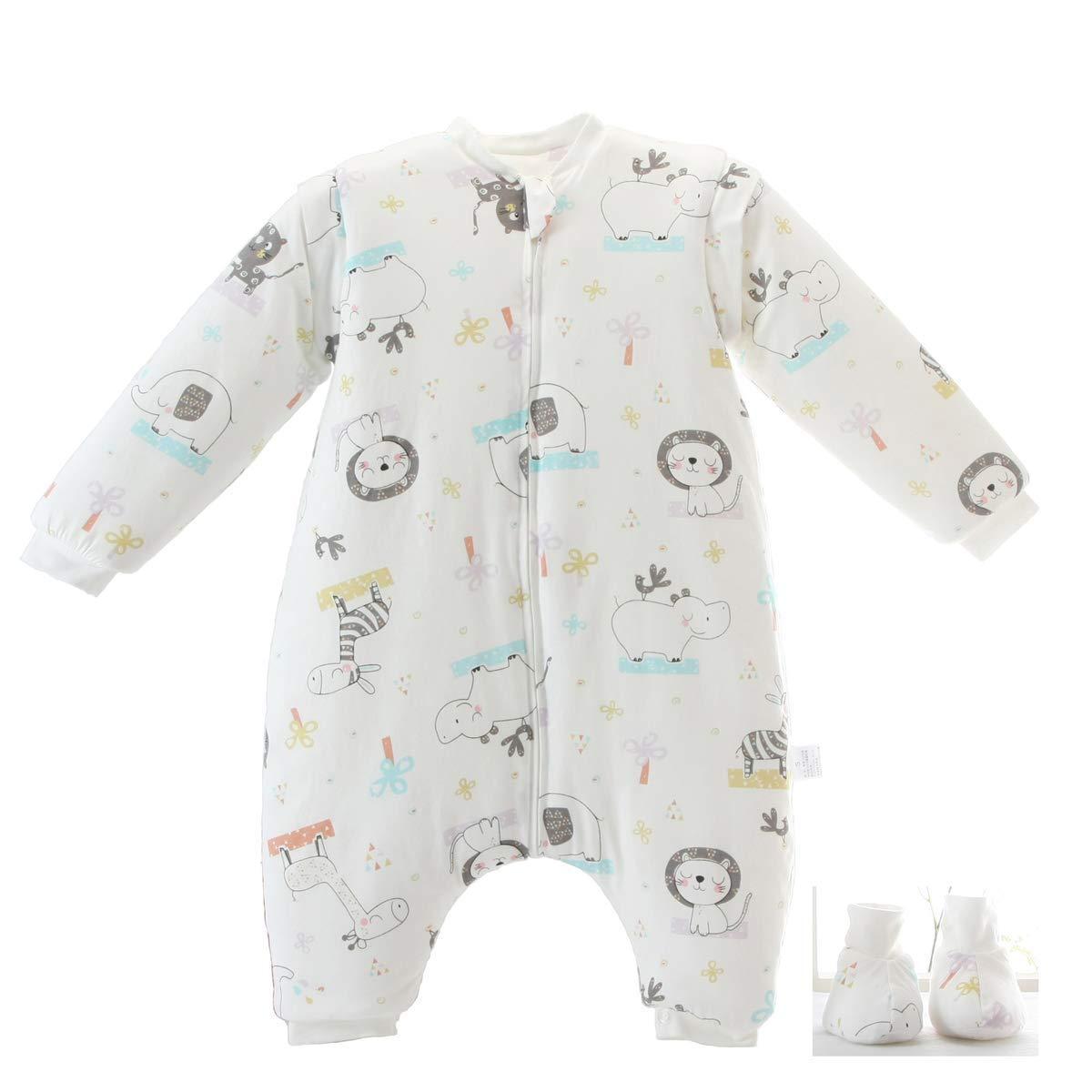 Sac de couchage hiver détachable à manches longues Jambes Doublure chaude Sac de couchage 3.5 Tog Convient aux enfants de 0 à 4 ans KLUME