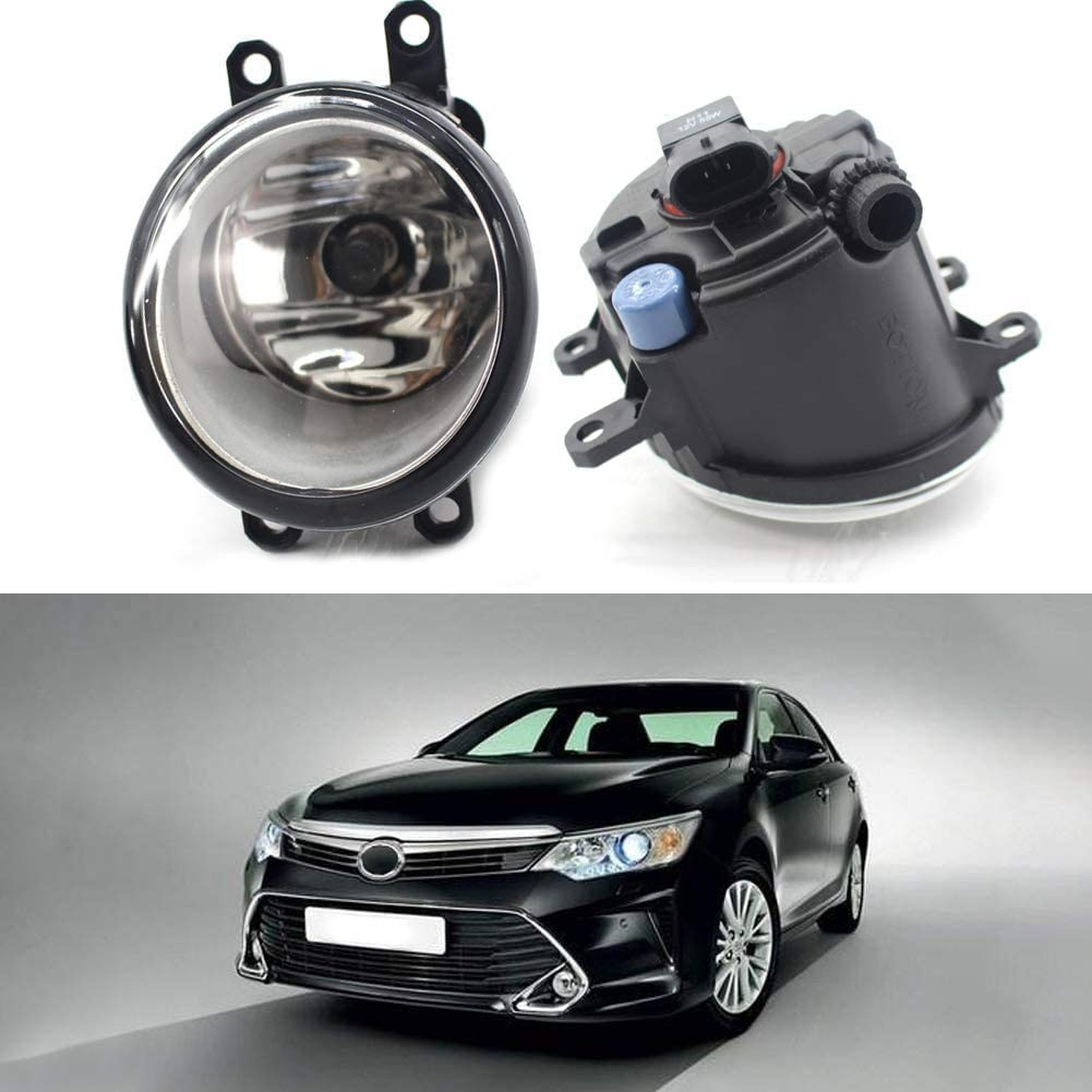WonVon Clear Lens Driving Fog Lights Bumper Lamps with Bulbs,Anti-Fog lights 8121006071 Front Bumper Lights 8122006071 Compatible with Toyota H11 12V 55W Fog Lamps Assembly