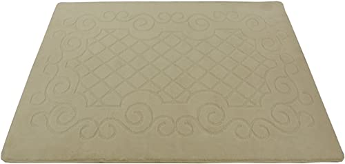 Minaan Collection Trellis Lace Scroll Design Area Rug Rugs Slip Resistant Backing Modern Contemporary Area Rug IvoryTrellis Scroll
