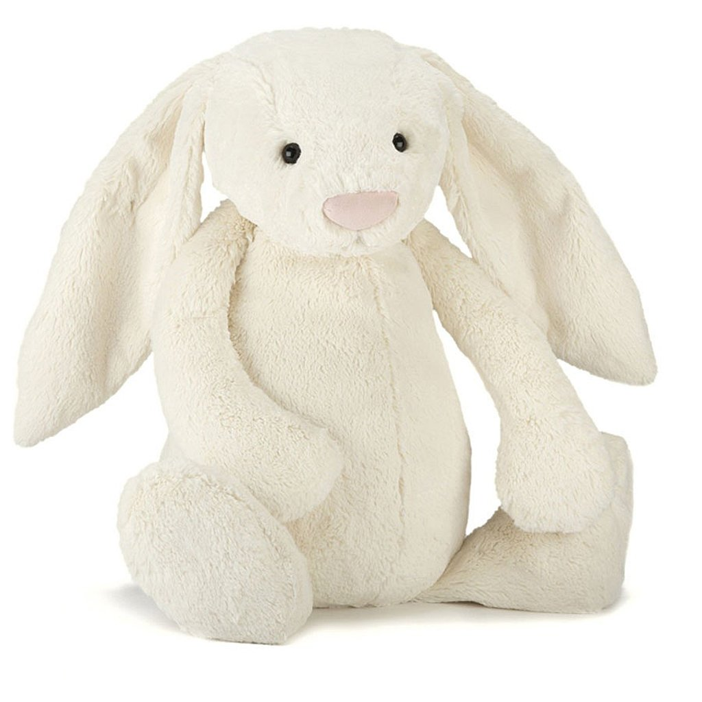 Jellycat Bashful Cream Bunny Stuffed Animal, Really Big, 31 inches by Jellycat