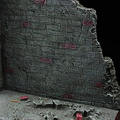 1//6 Scale Base Modern Brick Wall Street Corner Simulated War Scene Accessory