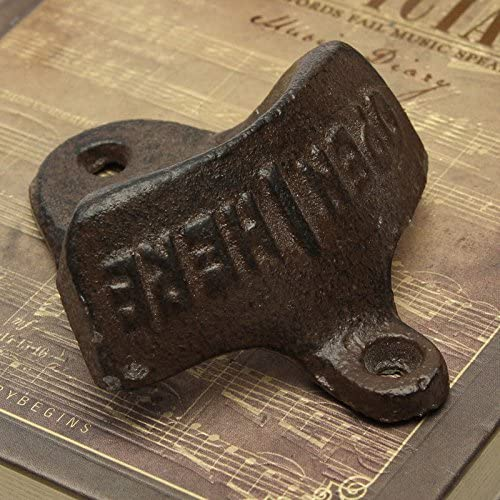 Cast Iron Vintage Rustic Style Collectable Wall Mounted Beer Bottle Opener WT