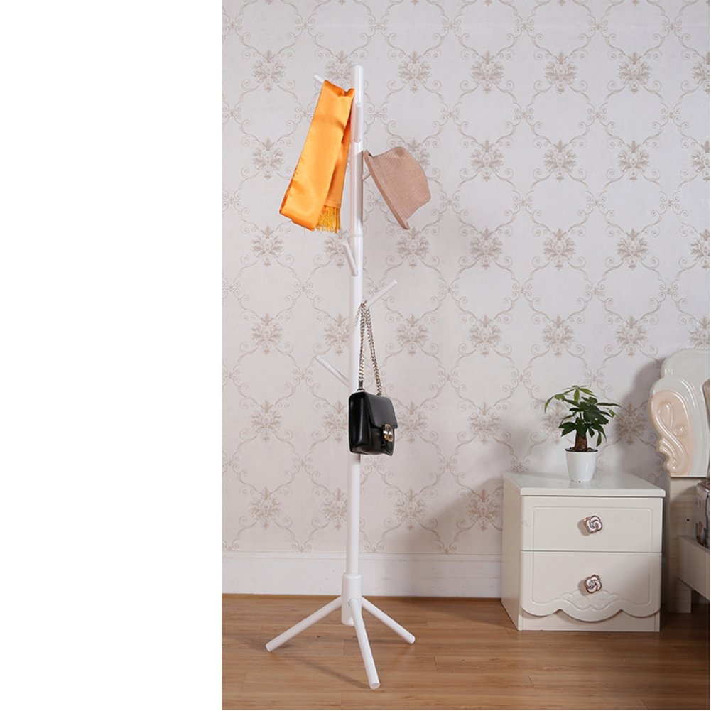 Solid wood clothes rack,Home bedroom simple floor hanger european modern creative clothes hanger clothes rack tree-shaped drying rack-A diameter176cm(69inch)