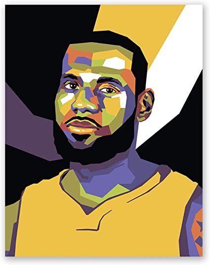 Amazon Com James Lebron Poster Los Angeles Lakers Nba Wall Art Print Pop Art Portrait Basketball Home Decor 11x14 Sports Outdoors
