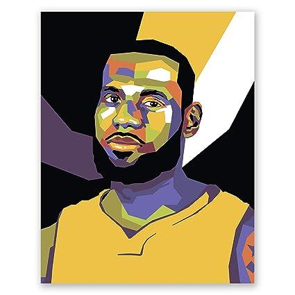 81f61b50034df James Lebron Poster – Los Angeles Lakers NBA Wall Art Print – Pop Art  Portrait – Basketball Home Decor (11x14)