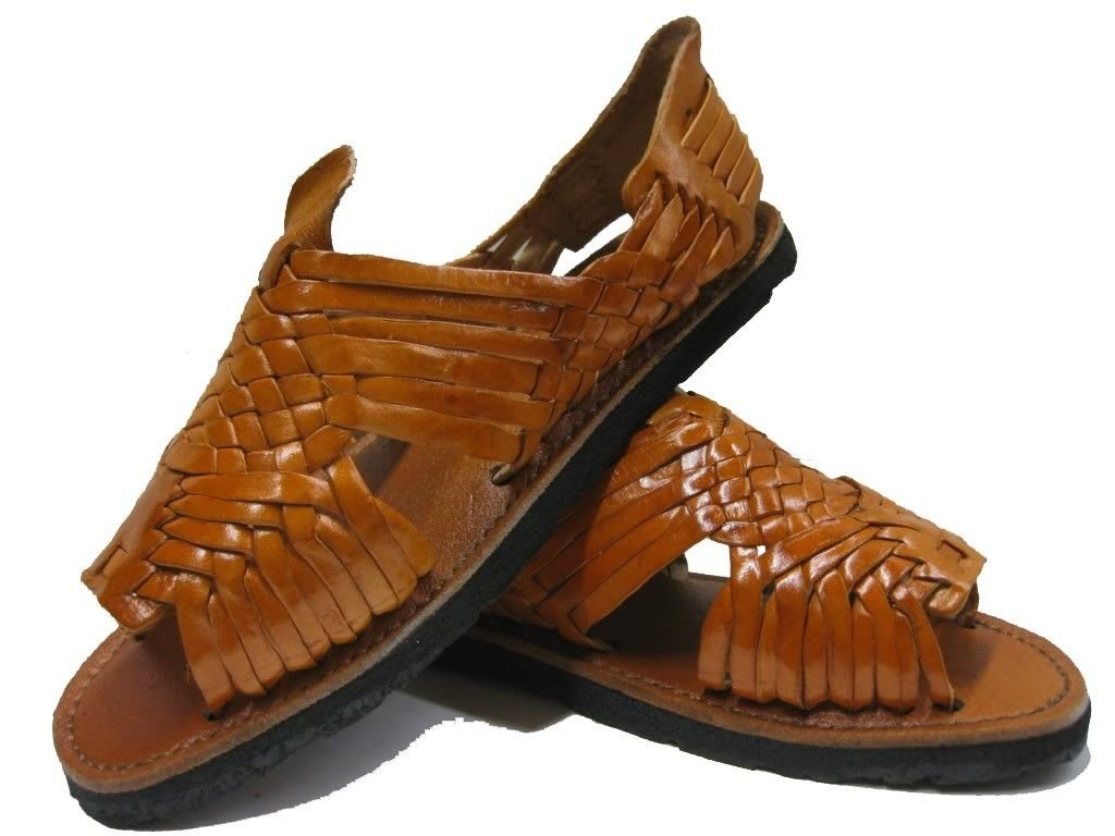 Men's Pachuco Chedron All Real Leather Mexican Huaraches Open Toe 8