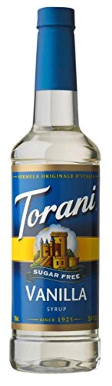 Torani Sugar Free Syrup, Vanilla, 25.4 Ounces