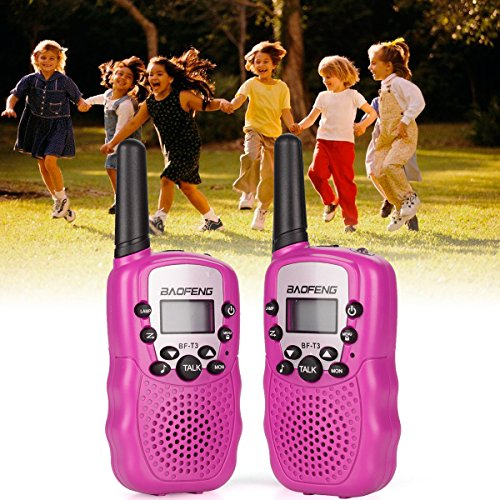 QITAO® Kids Walkie Talkies, 2 Pack Portable T388 3KM