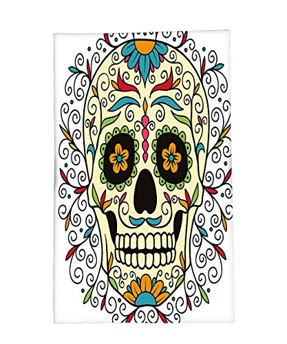 [Interestlee Fleece Throw Blanket Sugar Skull Decor Catrina Calavera Featured Figure Ornaments Macabre Remember the Dead Multicolor] (Catrina Costume For Sale)