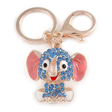 Avalaya - Llavero con diseño de Elefante de bebé esmaltado ...