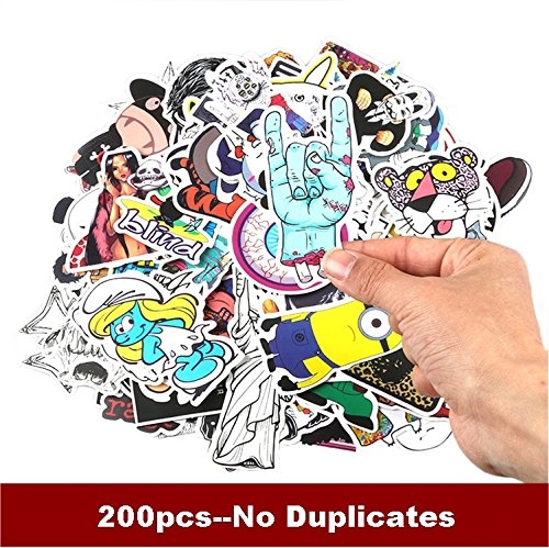 200 pack KJ Home Car Stickers Motorcycle Bicycle Luggage Lap