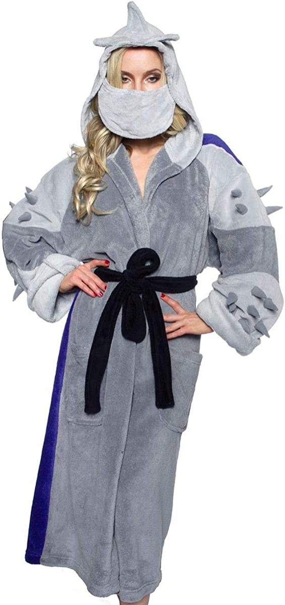 Ninja Turtles Men's TMNT Shredder Adult Costume Robe, Silver/Purple, One Size
