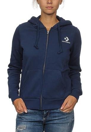 Converse Zipper Damen Star Chevron Hoodie 10008818 Navy 426: Amazon ...
