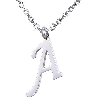 Morella Collar de Plata y Acero Inoxidable con Colgante Letras
