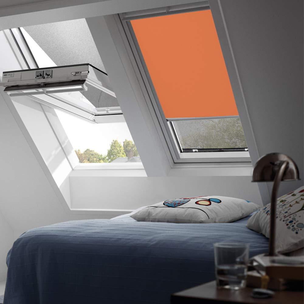 Orignal VELUX Verdunkelungsrollo DKL M06 4564S   Bedienart   Manuell   Farbe   Uni Orange   Fenstergröße   M06   Fenstertypen   GGU, GPU, GHU, GTU, GXU, GGL, GPL, GHL, GTL, GXL