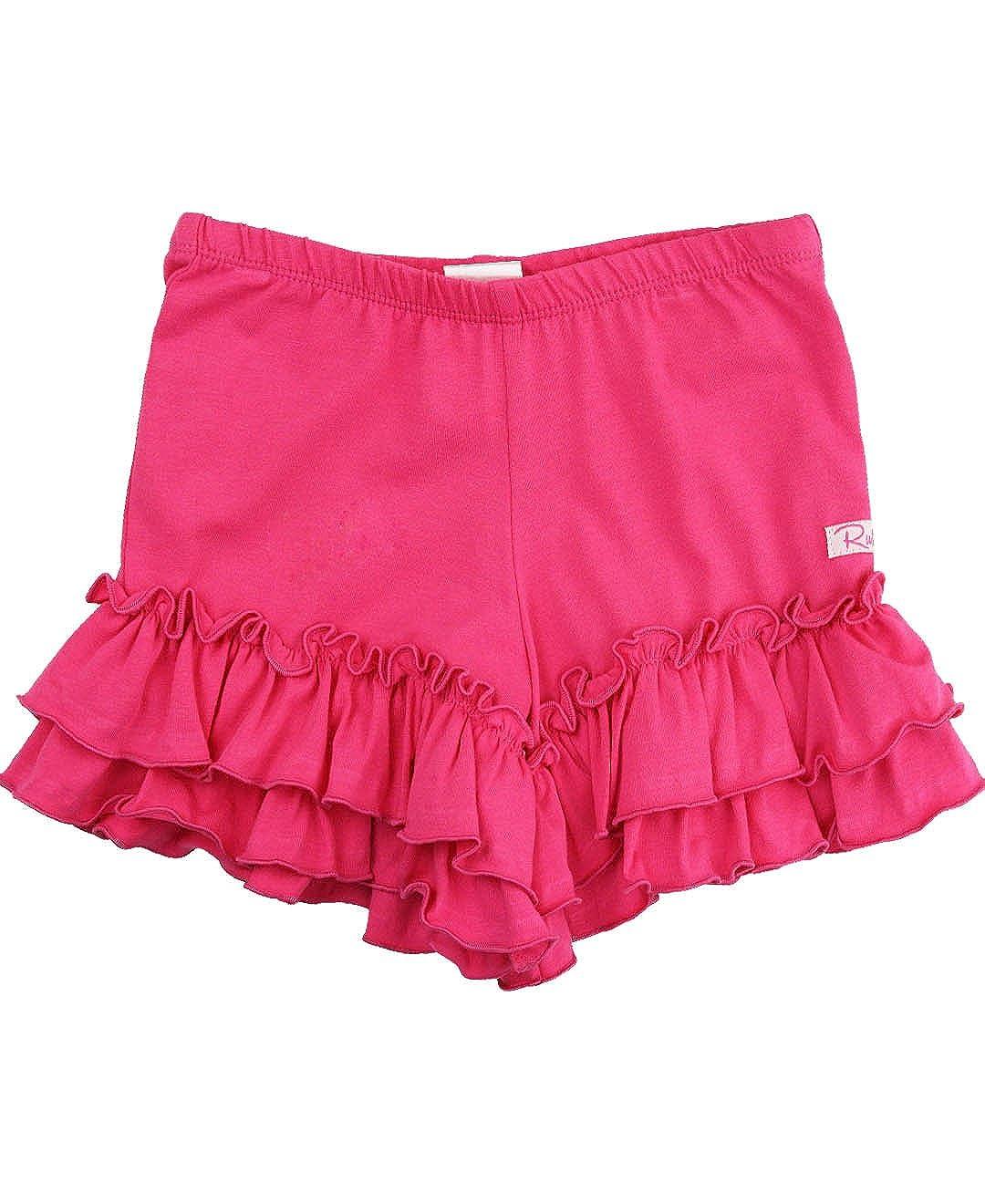 RuffleButts Little Girls Pull-On Flowy Knit Play Shorts w//Ruffle Trim GTKYYXX-FL00-SC-TDLR