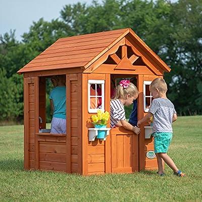 Backyard Discovery Timberlake All Cedar Wood Playhouse: Toys & Games