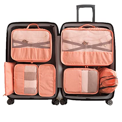 c625fde58fb1 Amazon.com: Sarazong 7 Pcs Packing Cube,Luggage Packing Organizers ...