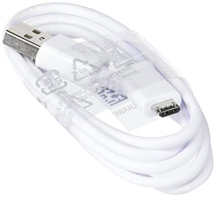 Cable de 1,5 m USB-Micro USB original de , Color Blanco para Galaxy S7 Edge