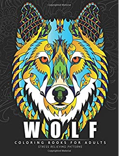 Wolf Coloring Books For Adults Amazing Wolves Design Animal
